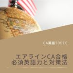【CA英語TOEIC】エアラインCAに合格する必須英語力と対策法