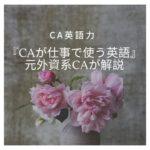 【CA英語力】CAが仕事で使う英語のレベルや内容をお伝えします。